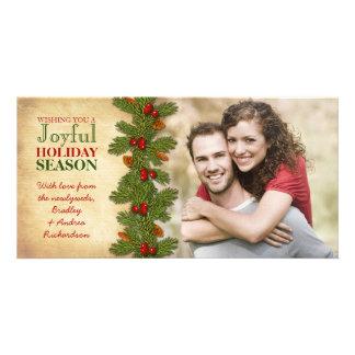 Unser erster Weihnachtszusammen Ast-Feiertag Bilderkarten