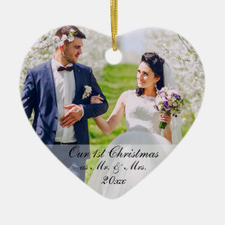Unser erstes Weihnachten als Herr u. Frau Foto RS Keramik Ornament