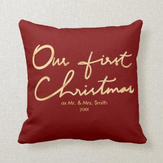 Unser erstes Weihnachten als Herr u. Frau | für Kissen