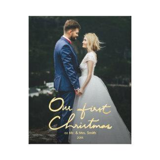 Unser erstes Weihnachten als Herr u. Frau | Leinwanddruck