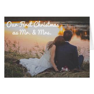 Unser erstes Weihnachten als Herr und Frau Karte