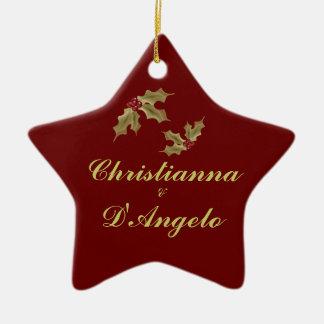 """""""Unser erstes Weihnachten/Ehemann und Ehefrau """" Keramik Ornament"""