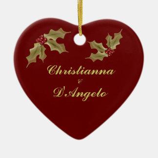 """""""Unser erstes Weihnachten/Ehemann und Ehefrau """" Ornament"""