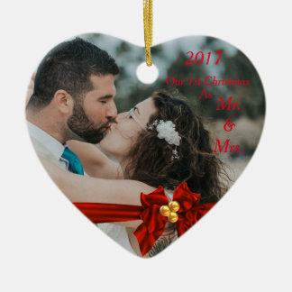 Unser erstes Weihnachten zusammen 2017 Keramik Ornament