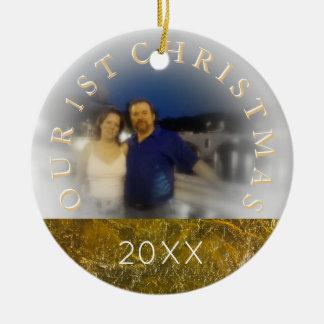 Unser erstes Weihnachten zusammen - addieren Sie Keramik Ornament