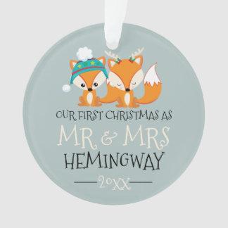 Unser erstes Weihnachtsniedlicher roter Fox Ornament