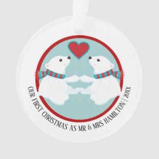 Unser erstes Weihnachtspolarer Ornament