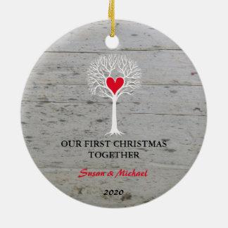 Unser erstes Weihnachtszusammen Keramik Ornament