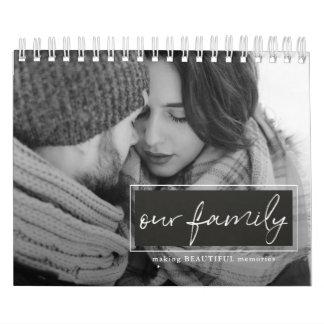 Unser Familien-Skript-Foto-Kalender Kalender