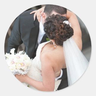 Unser Hochzeits-Aufkleber mit Braut und Bräutigam