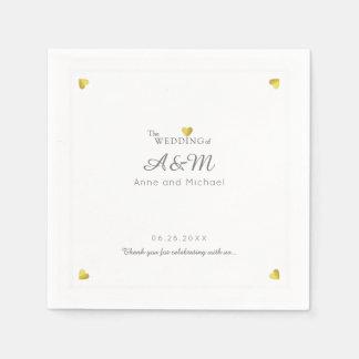 unser Hochzeits-Empfangs-Standardcocktail Papierserviette