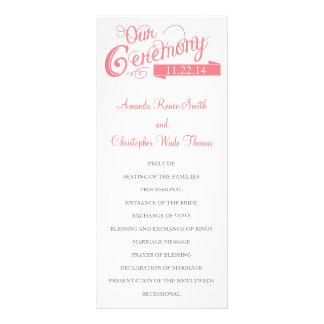 Unser Liebe-Geschichten-Hochzeits-Programm Werbekarte