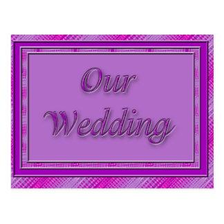 Unser lila Rosa der Hochzeit Postkarte
