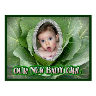 Unser neues Baby Postkarte