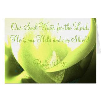 Unser Soul wartet den Lord Karte