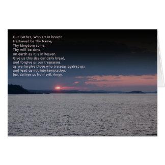 Unser Vater-Gebet Karte