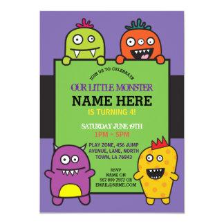 Unser wenig Monster-Geburtstags-Party-Spaß laden Karte