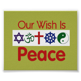 Unser Wunsch FRIEDENSplakat Poster
