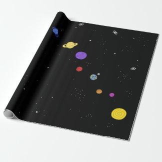 Unser Zuhause - Solarsystem Geschenkpapier