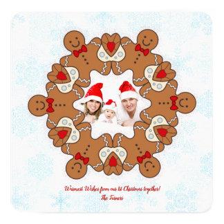 Unsere 1. Weihnachtsmandala-Lebkuchen-Foto-Familie Karte