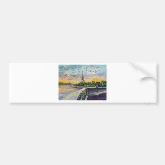 """""""Unsere Ansicht von Paris"""" Eiffelturm, der G Bruce Autoaufkleber"""