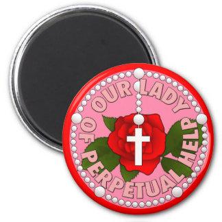 Unsere Dame der unaufhörlichen Hilfe Runder Magnet 5,1 Cm