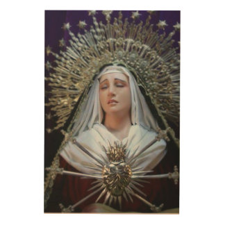 UNSERE DAME OF SORROWS HOLZDRUCK