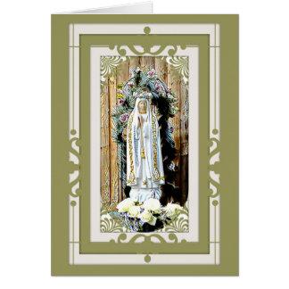 Unsere Dame von Fatima Karte