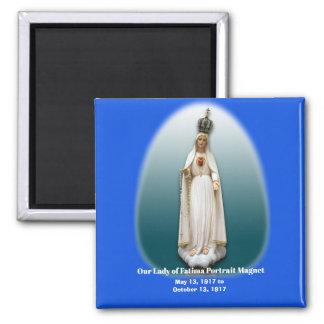 Unsere Dame von Fatima-Porträt Magnt Quadratischer Magnet