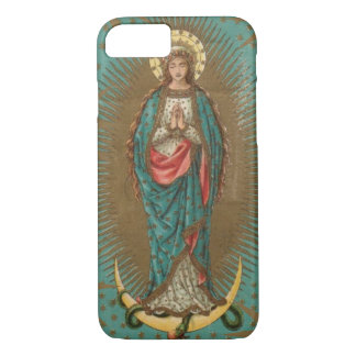 Unsere Dame von Guadalupe-JUNGFRAU MARY iPhone 7 Hülle