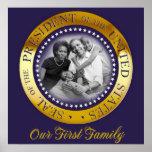 Unsere erste Familie, ObamapräsidentenSiegel-Portr Posterdrucke