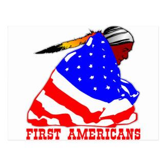 Unsere ersten Amerikaner Postkarte
