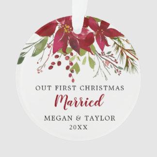 Unsere erstes Weihnachtsverheiratete Ornament