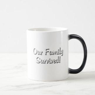 Unsere Familie überlebte Tassenweiß 2009: © Verwandlungstasse