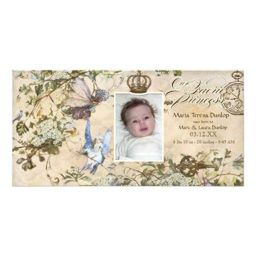 Unsere Feen-Prinzessin, Baby-Mädchen-Geburts-Mitte Fotokartenvorlagen