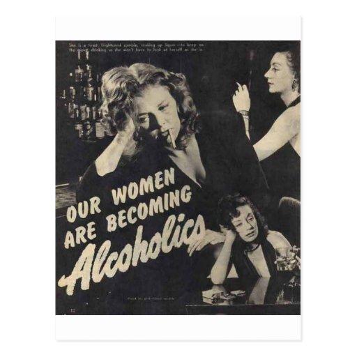 Unsere Frauen sind werdene Alkoholiker! Postkarte