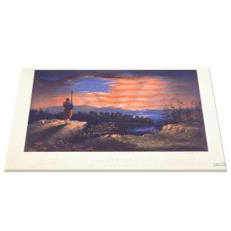 Unsere Himmels-geborene Fahne durch William Bauly Leinwanddruck