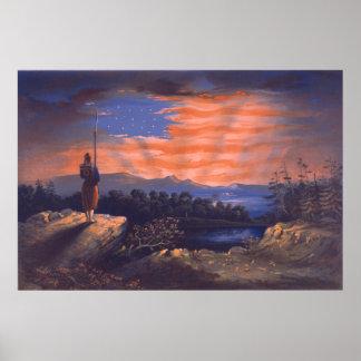 Unsere Himmels-geborene Fahne durch William Bauly Poster