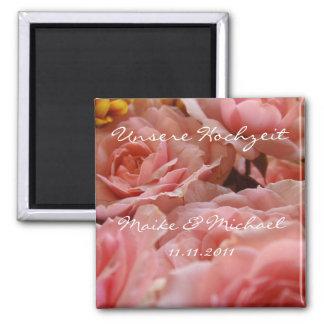 Unsere Hochzeit (Einladung) - Magnet Quadratischer Magnet