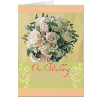 Unsere Hochzeit Karte