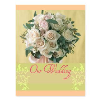 Unsere Hochzeit Postkarte