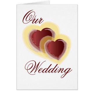Unsere Hochzeits-Einladung - besonders angefertigt Grußkarte
