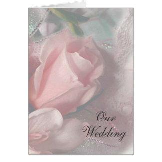 Unsere Hochzeits-Mitteilungs-Karte Grußkarte