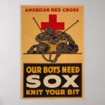 Unsere Jungen benötigen sox-Kreuz-Weltkrieg 2 Plakate