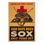 Unsere Jungen benötigen sox-Kreuz-Weltkrieg 2 Postkarten