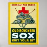 Unsere Jungen benötigen Sox ~ Vintagen Weltkrieg 1 Poster