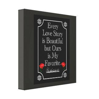 Unsere Liebegeschichte -- Leinwandkunst Leinwanddruck