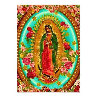 Unsere mexikanische Heilig-Jungfrau Mary 12,7 X 17,8 Cm Einladungskarte