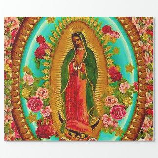 Unsere mexikanische Heilig-Jungfrau Mary Geschenkpapier