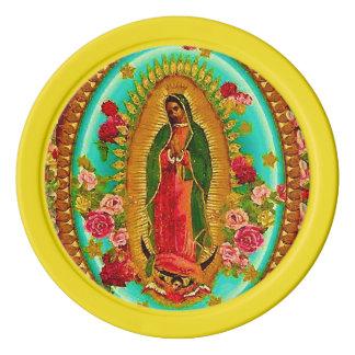 Unsere mexikanische Heilig-Jungfrau Mary Poker Chips